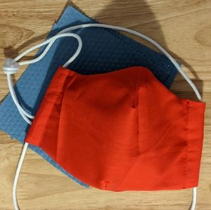 Fitted Face mask with shop towel filter, nose wire